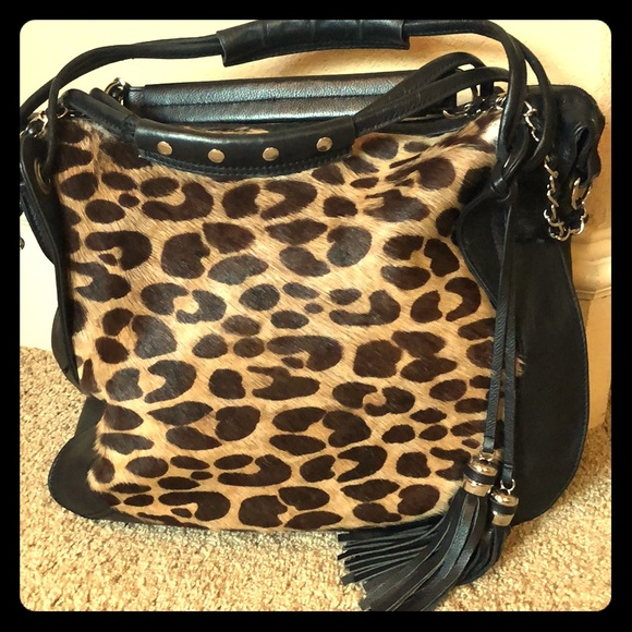 2bf8235c44c Hype Bags | Leopard Print Leather Bag | Poshmark